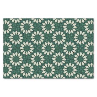 Papel De Seda Mandala. da folha verde e de prata de Sacramento