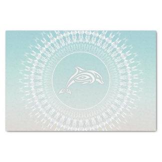 Papel De Seda Mandala do estilo da praia do golfinho