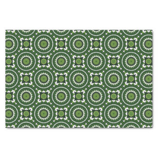 Papel De Seda Mandala verde tropical