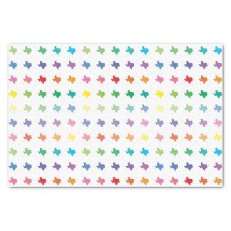Papel De Seda Mapa de cores bonito do arco-íris de Texas