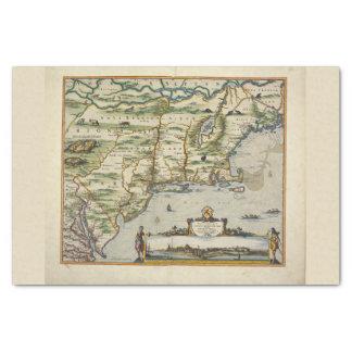 Papel De Seda Mapa de Velho Mundo do Mar do Norte de Europa do