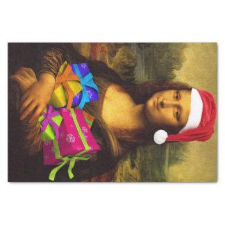 Papel De Seda Mona Lisa Papai Noel