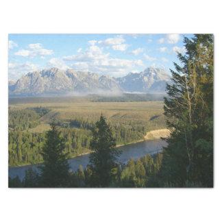 Papel De Seda Montanhas e rio de Jackson Hole