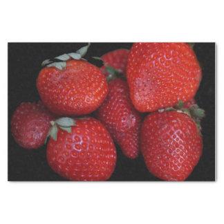 Papel De Seda Morangos vermelhas frescas
