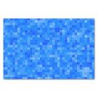 Papel De Seda Mosaico azul do pixel