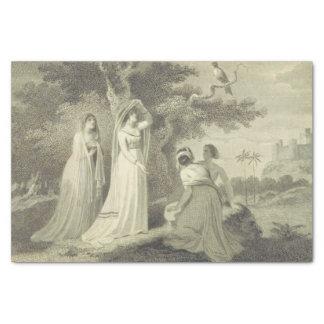 Papel De Seda Mulher encoberta dos contos de Canterbury