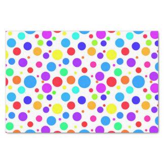 Papel De Seda Multi pontos coloridos