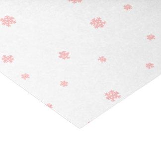 Papel De Seda Natal cor-de-rosa do floco de neve