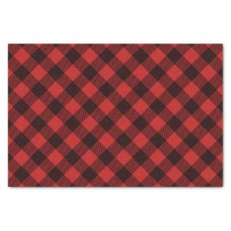 Papel De Seda Natal vermelho e preto do búfalo da xadrez do