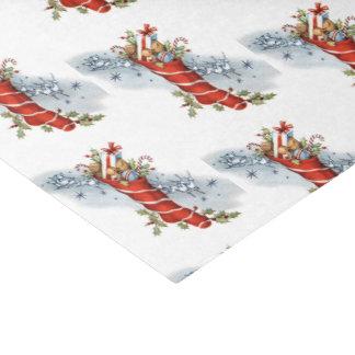 Papel De Seda Natal vintage que armazena o tecido do partido do