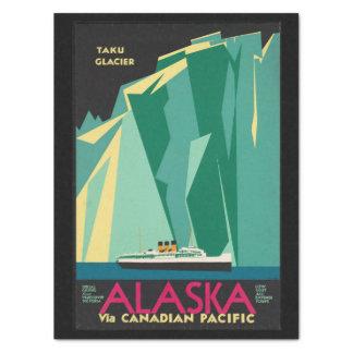 Papel De Seda Navio de cruzeiros da geleira de Alaska Taku das