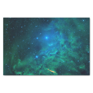 Papel De Seda Nebulosa flamejante da estrela