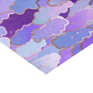 Papel De Seda Nuvens japonesas, crepúsculo, violetas e