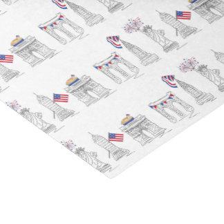Papel De Seda NYC Nova Iorque fogos-de-artifício patrióticos EUA