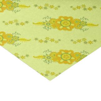 Papel De Seda O amarelo bonito floresce a peça central