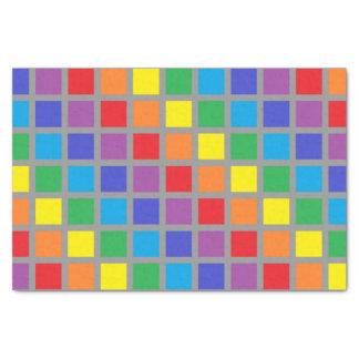Papel De Seda O arco-íris esquadra o carvão vegetal