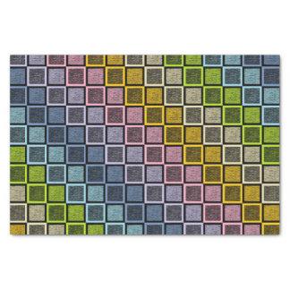 Papel De Seda O arco-íris Pastel estático esquadra o preto