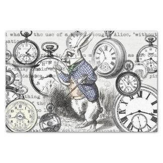 Papel De Seda O coelho branco cronometra Alice no país das