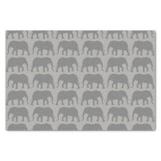 Papel De Seda O elefante africano mostra em silhueta o teste