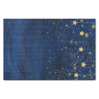 Papel De Seda O ouro celestial Stars o presente do costume do