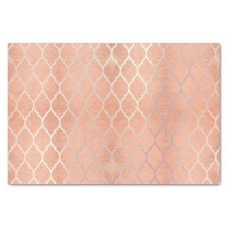 Papel De Seda O ouro cor-de-rosa do coral metálico cora pêssego