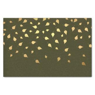 Papel De Seda O ouro do outono sae do teste padrão