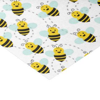 Papel De Seda O partido do teste padrão da abelha do