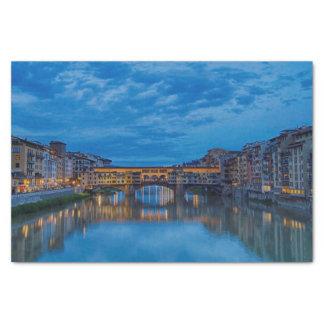Papel De Seda O Ponte Vecchio em Florença