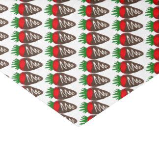 Papel De Seda O tecido com cobertura em chocolate dos namorados