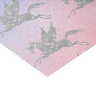 Papel De Seda O unicórnio de prata mágico telhou o lenço de