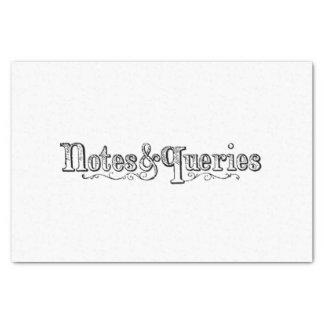 Papel De Seda O vintage nota e pergunta Typograph