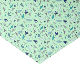 Papel De Seda Oceano no verde