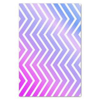 Papel De Seda Ombre azul roxo cor-de-rosa à moda Chevron