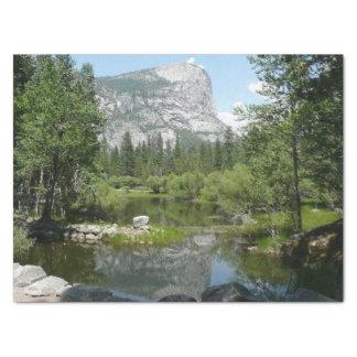 Papel De Seda Opinião do lago mirror no parque nacional de