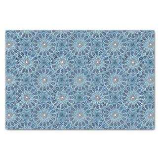 Papel De Seda Oriente azul