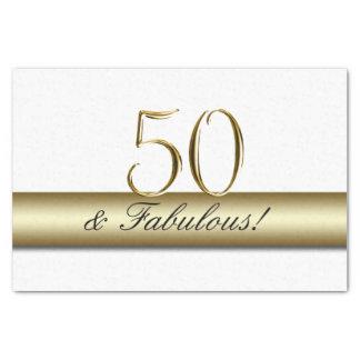 Papel De Seda Ouro 50 e aniversário fabuloso de | 50th