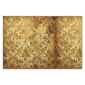 Papel De Seda Ouro, rústico, vintage, antiguidade, damasco,