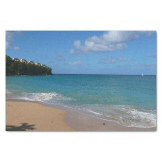 Papel De Seda Paisagem tropical das férias da praia de Lucia de