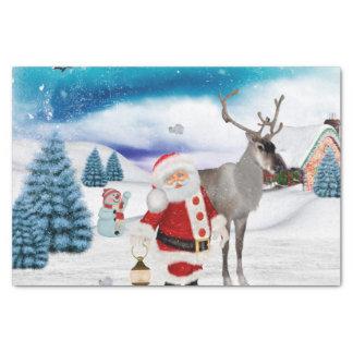 Papel De Seda Papai Noel engraçado