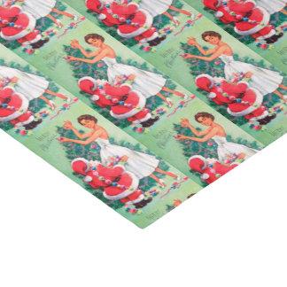 Papel De Seda Papai noel retro do Natal do vintage e tecido da