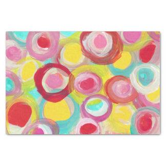Papel De Seda Partido abstrato da pintura do círculo da arte