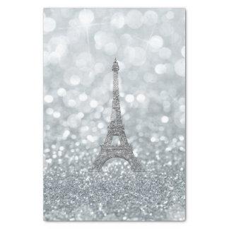 Papel De Seda Partido de prata da torre Eiffel de Bling da