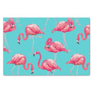 Papel De Seda Pássaros cor-de-rosa do flamingo no fundo de