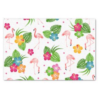 Papel De Seda Pássaros do flamingo