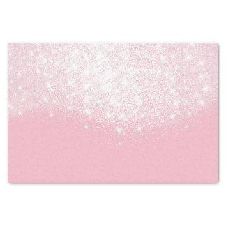 Papel De Seda Pastel metálico de prata do rosa do brilho do