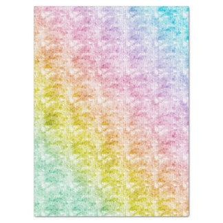 Papel De Seda Pastels do arco-íris com textura gráfica