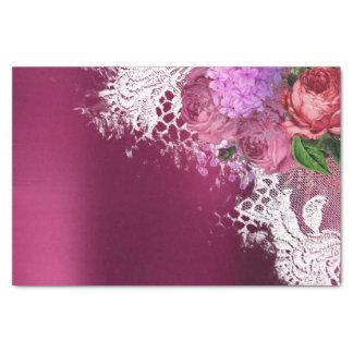Papel De Seda Peônia verde Borgonha cinzenta do rosa da flor