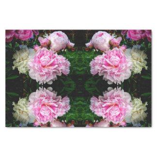 Papel De Seda Peônias cor-de-rosa e brancas