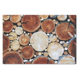 Papel De Seda Pilha de madeira do registro