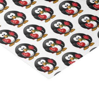 Papel De Seda Pinguim dos namorados com chocolate e presente dos